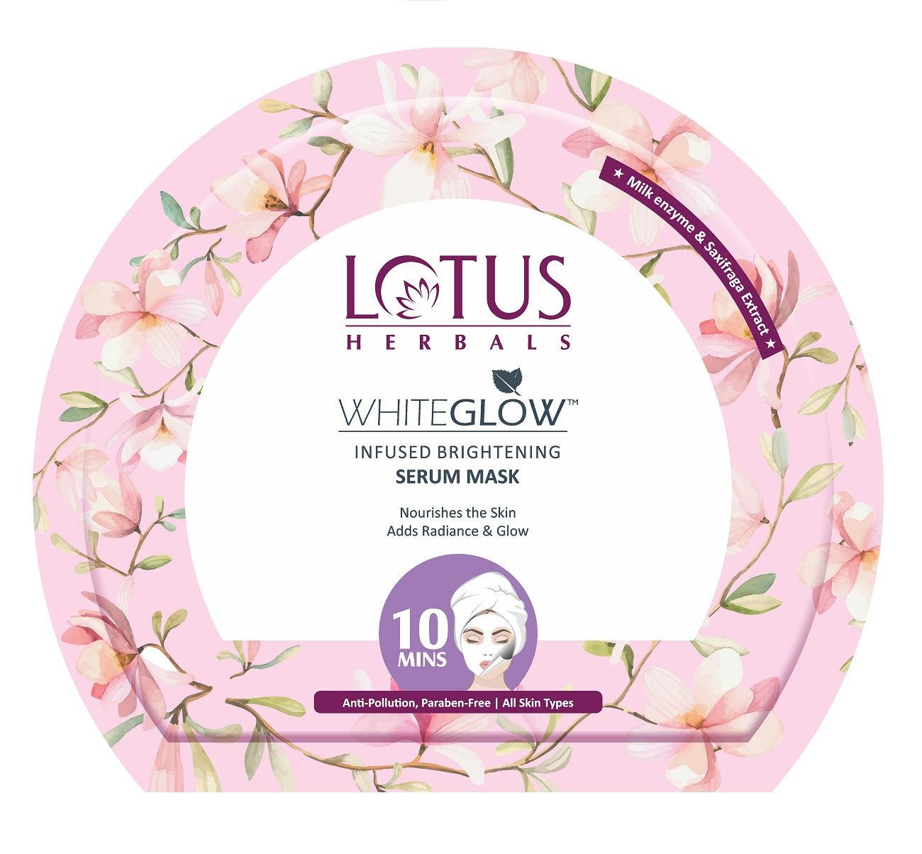 Lotus Herbals WhiteGlow Infused Brightening Serum Sheet Mask: Buy Lotus  Herbals WhiteGlow Infused Brightening Serum Sheet Mask Online at Best Price  in India | Nykaa