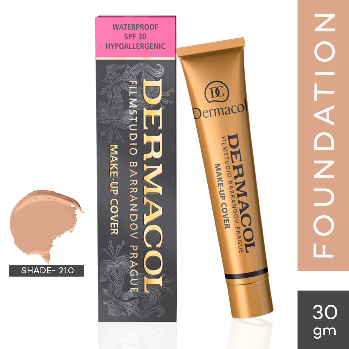 Dermacol Make Up Cover Foundation Spf 30 Buy Dermacol Make Up Cover Foundation Spf 30 Online At Best Price In India Nykaa