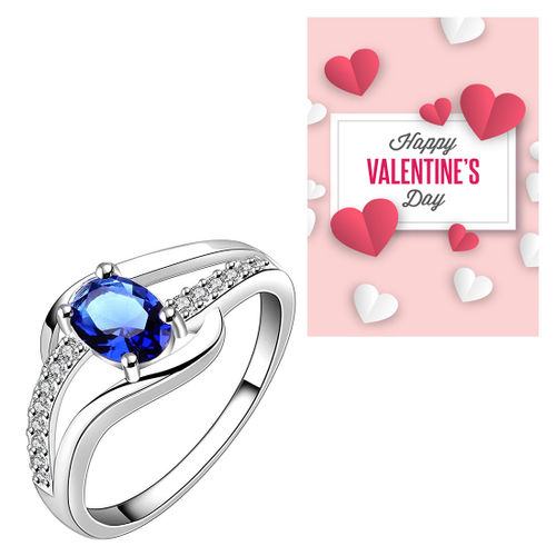 Peora Blue Ring With Greeting Card For Girlfriend Gift For Valentine Buy Peora Blue Ring With Greeting Card For Girlfriend Gift For Valentine Online At Best Price In India Nykaa