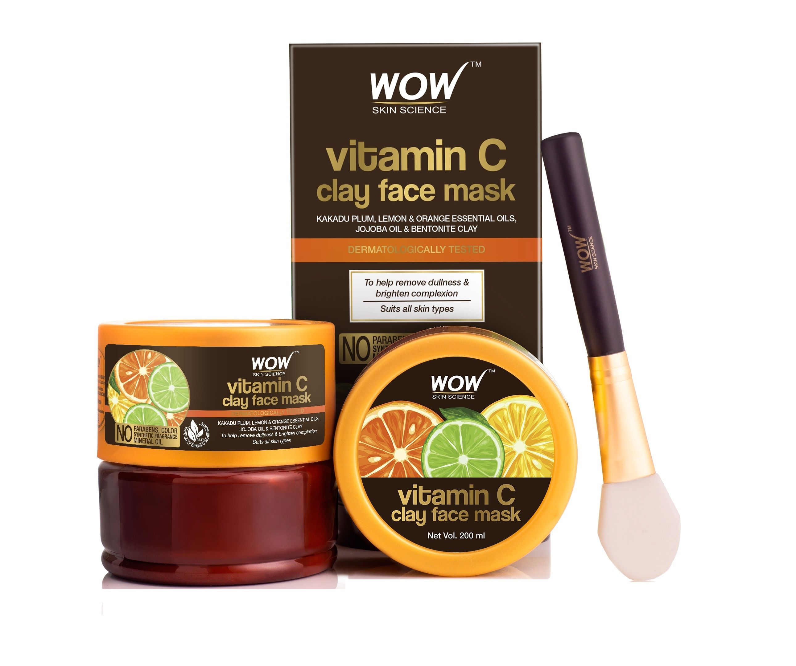 Wow Skin Science Vitamin C Glow Clay Face Mask Buy Wow Skin Science Vitamin C Glow Clay Face Mask Online At Best Price In India Nykaa