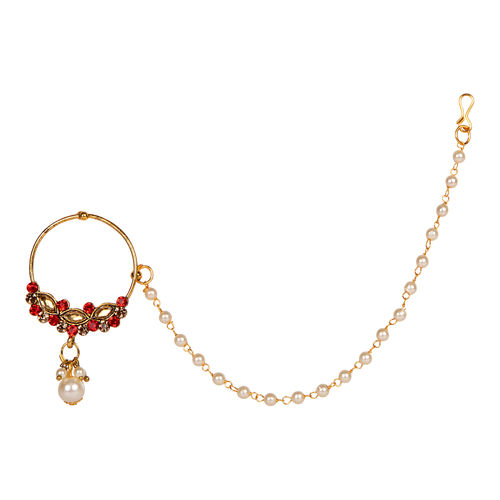 Anika S Creation Traditional Gold Plated Nose Ring Buy Anika S Creation Traditional Gold Plated Nose Ring Online At Best Price In India Nykaa