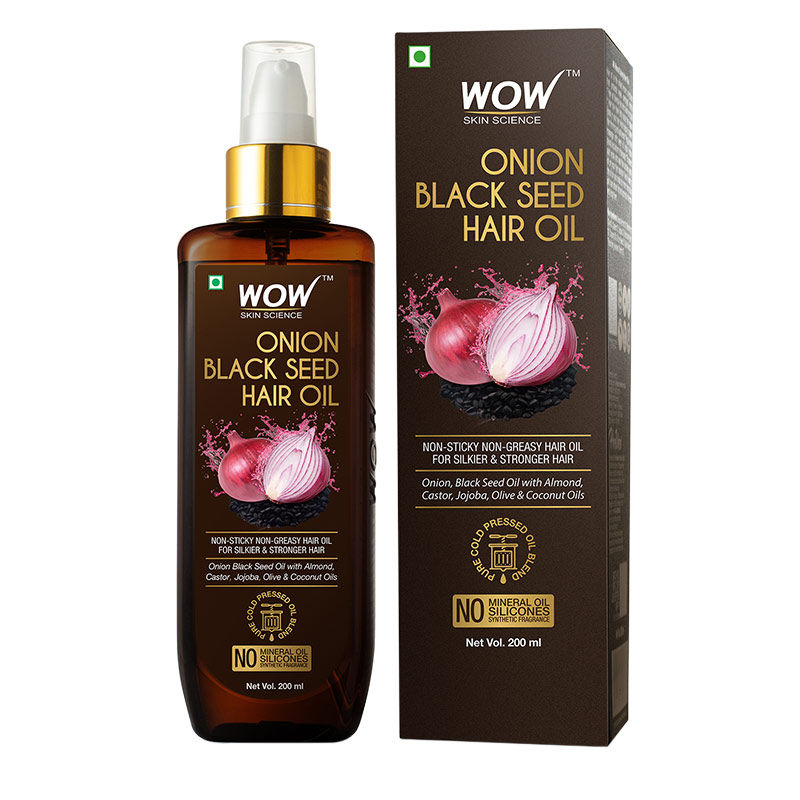 Wow Skin Science Onion Black Seed Hair Oil Buy Wow Skin Science Onion Black Seed Hair Oil Online At Best Price In India Nykaa
