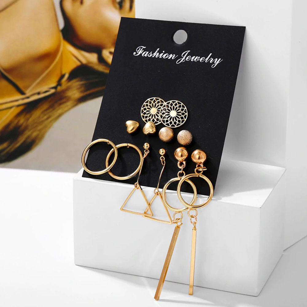 Jewels Galaxy Mesmerizing Heart Round Designs Adorable 6 Pair Of Earrings For Women Buy Jewels Galaxy Mesmerizing Heart Round Designs Adorable 6 Pair Of Earrings For Women Online At Best Price In