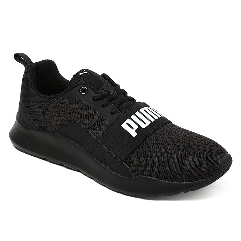 Puma Unisex Wired Sports Shoes - Black