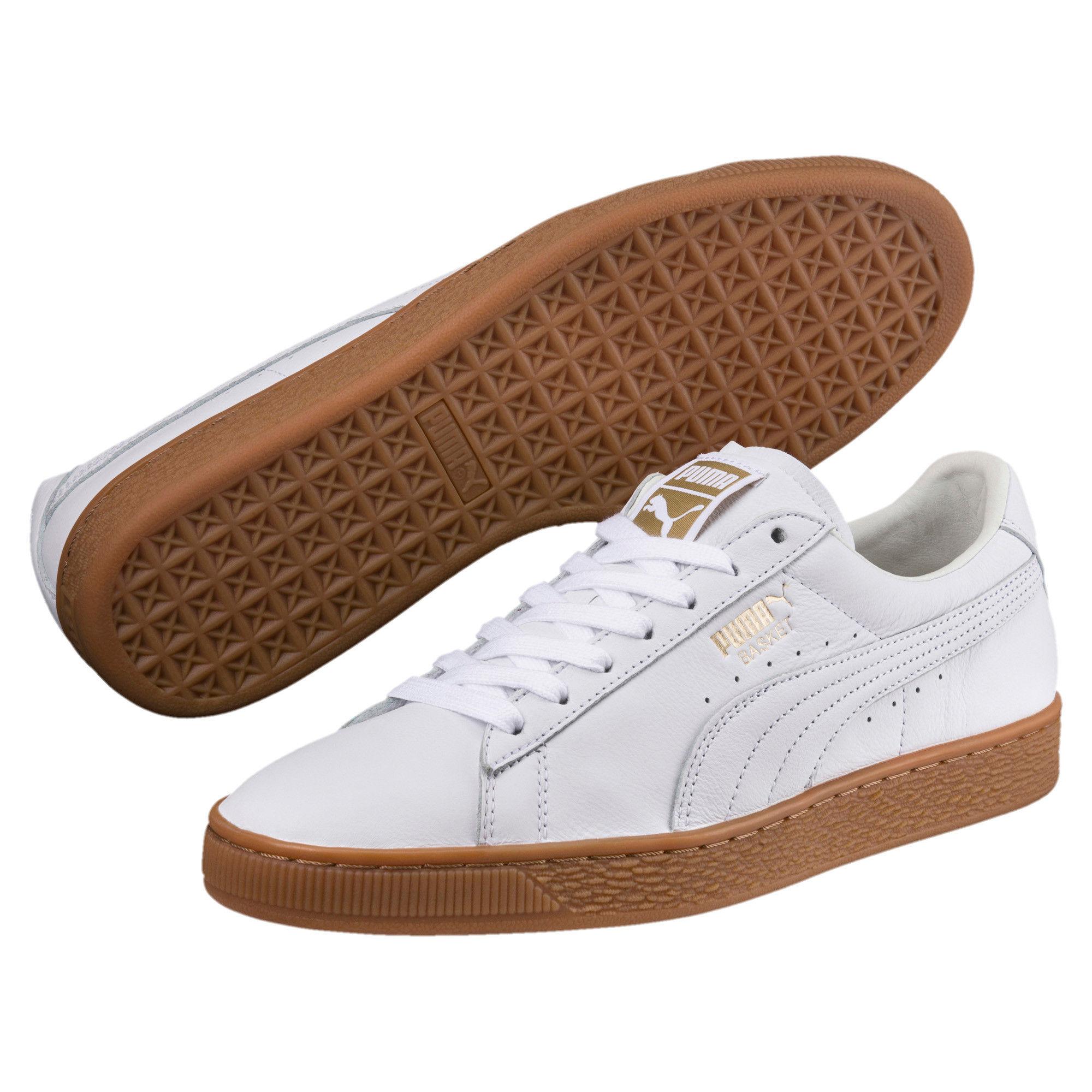 Academia Sensación Compulsión  Puma Basket Classic Gum Deluxe Unisex White Sneakers: Buy Puma Basket  Classic Gum Deluxe Unisex White Sneakers Online at Best Price in India |  Nykaa