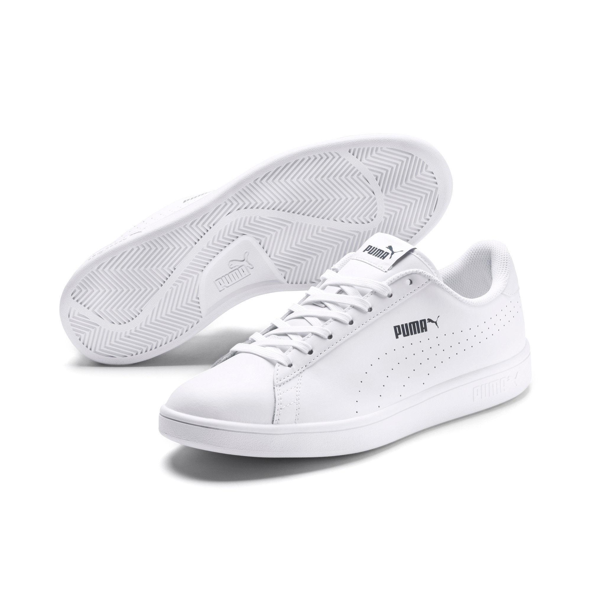 puma smash trainers in white