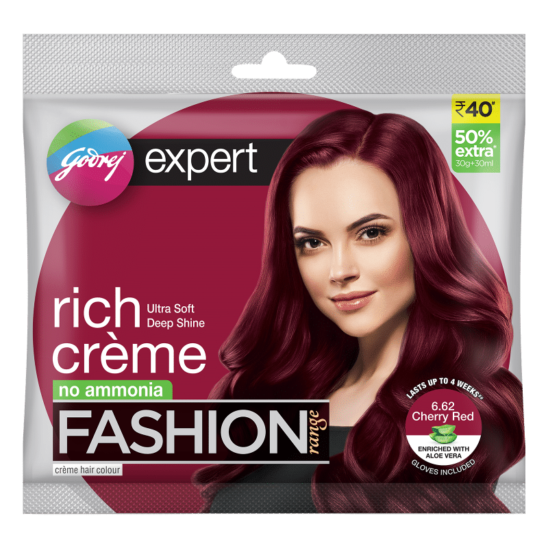 Godrej Expert Rich Creme Fashion Shade Cherry Red Buy Godrej Expert Rich Creme Fashion Shade Cherry Red Online At Best Price In India Nykaa
