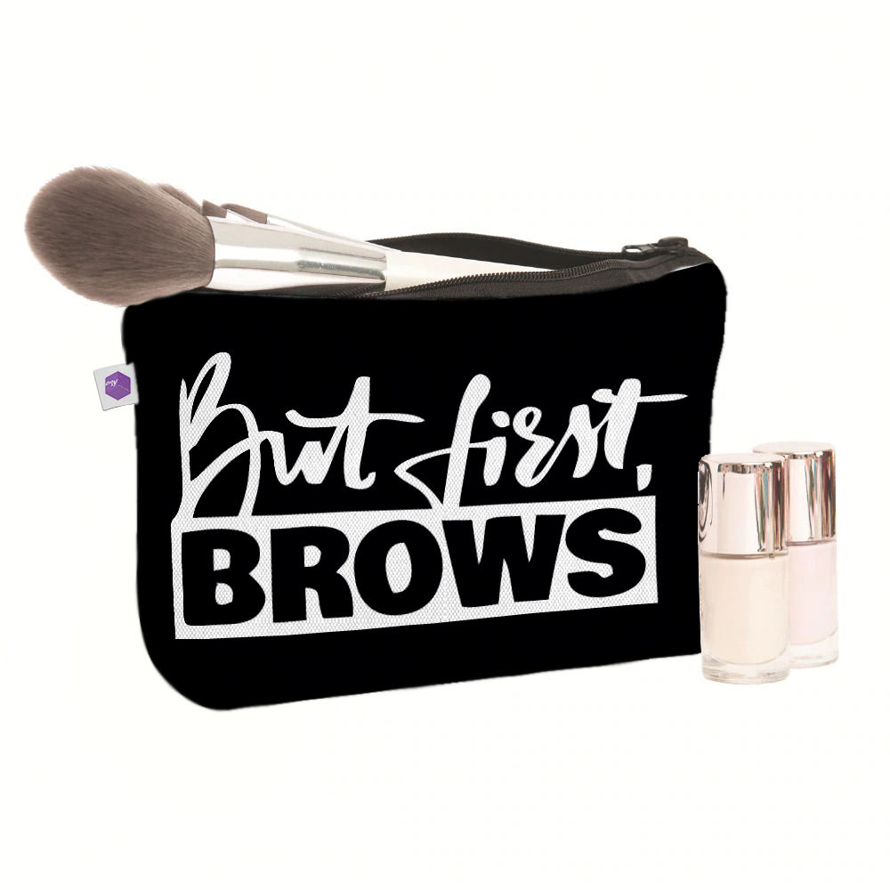 Crazy Corner Brows Printed Makeup Pouch