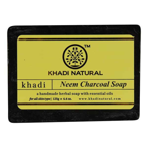 Khadi Natural Ayurvedic Neem Charcoal Soap: Buy Khadi Natural Ayurvedic Neem  Charcoal Soap Online at Best Price in India | Nykaa