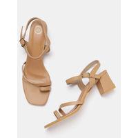 Twenty Dresses Charmed Simplicity Toe Loop Heels - Nude