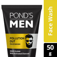 Ponds Men Pollution Out Activated Charcoal Deep Clean Face Wash