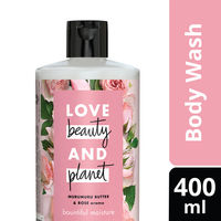 Love Beauty & Planet Murumuru Butter and Rose Aroma Bountiful Moisture Body Wash