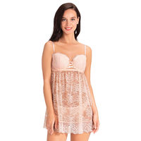 Amante Eternal Bliss Balconette Babydoll - Pink