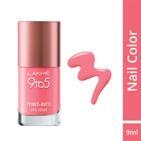 Lakme 9 to 5 Primer + Matte Nail Color - Blush