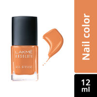 Lakme Absolute Gel Stylist Nail Color - Peach Sorbet