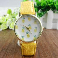 Ferosh Quirky Pineapple Yellow Strap Watch