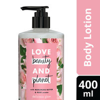 Love Beauty & Planet Murumuru Butter and Rose Aroma Delicious Glow Body Lotion