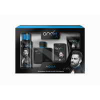 One8 by Virat Kohli Aqua Gift Set (EDP + Deo + Pocket Spray + Shower Gel)