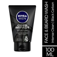 NIVEA MEN Face Wash Beard - Deep Impact Intense Clean