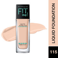 Maybelline New York Fit Me Matte+Poreless Liquid Foundation - 115 Ivory