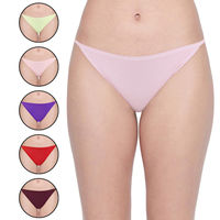 Bodycare Women's Solid Color Cotton Panty in Pack of 6 - Multi-color
