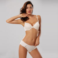 Makclan Tempting Plunge Lace Lingerie Set - White