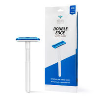 Bombay Shaving Company Double Edge Disposable Safety Razor (Blue)