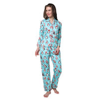 Pyjama Party Winter World Women's Cotton Pyjama Set - Blue