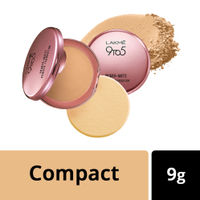 Lakme 9 to 5 Primer + Matte Powder Foundation Compact - Silky Golden