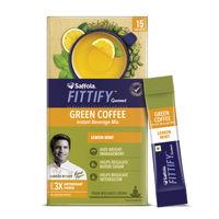 Saffola FITTIFY Gourmet Green Coffee Instant Beverage Mix - Lemon Mint
