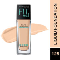 Maybelline New York Fit Me Matte+Poreless Liquid Foundation With Pump - 128 Warm Nude