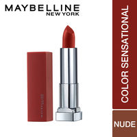 Maybelline New York Color Sensational Creamy Matte Lipstick The Bricks-City Heat Collection - 6 Noho Amber