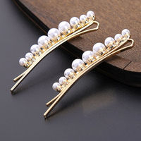 Ferosh Golden Pearl Embellished Dual Hair Pin