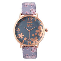 E2O Rose Gold & Grey Dial Analog Watch For Women