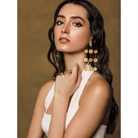 Zohra Cirsquare Seal Waterfall Earrings