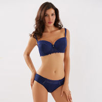 Makclan Lusty Wicked Lace Lingerie Set - Blue