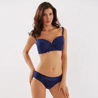 Makclan Lusty Wicked Lace Lingerie Set - Blue