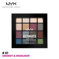 NYX Professional Makeup Ultimate Shadow Palette - Smoky And Highlight
