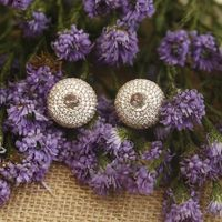 Bling Bag Sphere Zirconia Studs