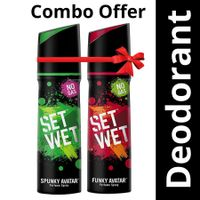 Set Wet Spunky and Funky Avatar Perfume 120 ml Each (Pack of 2)