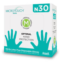 Ansell MICRO-TOUCH N30 Hand Protection Gloves - 30 Pcs (Medium)