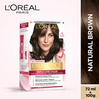 L'Oreal Paris Excellence Creme Hair Color - 4 Natural Brown