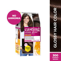 L'Oreal Paris Casting Creme Gloss Hair Color - 300 Darkest Brown (Save Rs.80)