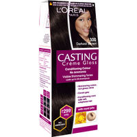 L'Oreal Paris Casting Creme Gloss Hair Color Small Pack - 300 Darkest Brown (Save Rs.100)