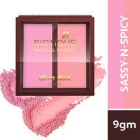 Biotique Natural Makeup Diva Duo Blush - Sassy-N-Spicy