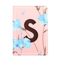 Doodle Initial S - Floral Monogram Notebook