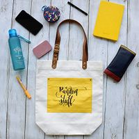 Doodle Collection Random Stuff Canvas Tote Bags