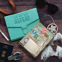 Doodle Travel Buff Planner With Card And Pen Holder, With Jacket