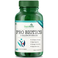 Simply Herbal Pro Biotics 500mg - 60 Vegetarian Capsules