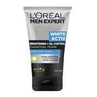 L'Oreal Paris Men Expert White Activ Oil Control + Brightening Charcoal Foam